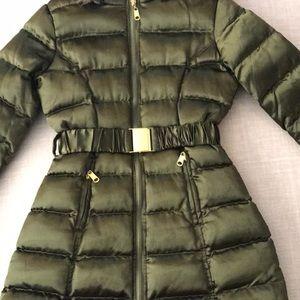 U.S. Polo Assn. Jackets & Coats - Olive green parka jacket with belt and hood